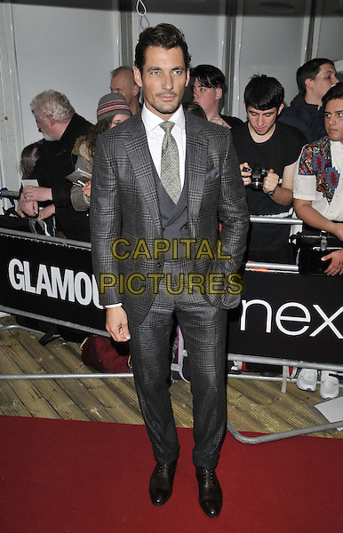LONDON, ENGLAND - JUNE 03: David Gandy attends the Glamour Women Of The Year Awards 2014, Berkeley Square Gardens, Berkeley Square, on Tuesday June 03, 2014 in London, England, UK.<br /> CAP/CAN<br /> &copy;Can Nguyen/Capital Pictures