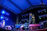 El ex guitarrista de Guns N Roses, Gilby Clarke, durante la noche de su concierto, en cierre del Festival Internacional del Pitic (antes fiestas del Pitic ), celebrado en el parque Madero.<br /> <br /> ** &copy;Foto:LuisGutierez/NortePhoto.com