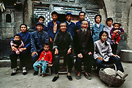 September, 1985. Shaanxi Province, China. Family of farmers in the area of Wuqi.