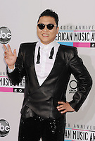 LOS ANGELES, CA - NOVEMBER 18: Psy attends the 40th Anniversary American Music Awards held at Nokia Theatre L.A. Live on November 18, 2012 in Los Angeles, California.PAP1112JP313..PAP1112JP313..
