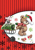 Sharon, CHRISTMAS ANIMALS, WEIHNACHTEN TIERE, NAVIDAD ANIMALES, GBSS, paintings+++++,GBSSC50XMCB,#XA#