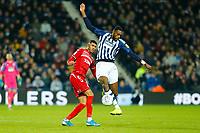 29th December 2019; The Hawthorns, West Bromwich, West Midlands, England; English Championship Football, West Bromwich Albion versus Middlesbrough; Semi Ajayi of West Bromwich Albion controls a long ball - Strictly Editorial Use Only. No use with unauthorized audio, video, data, fixture lists, club/league logos or 'live' services. Online in-match use limited to 120 images, no video emulation. No use in betting, games or single club/league/player publications