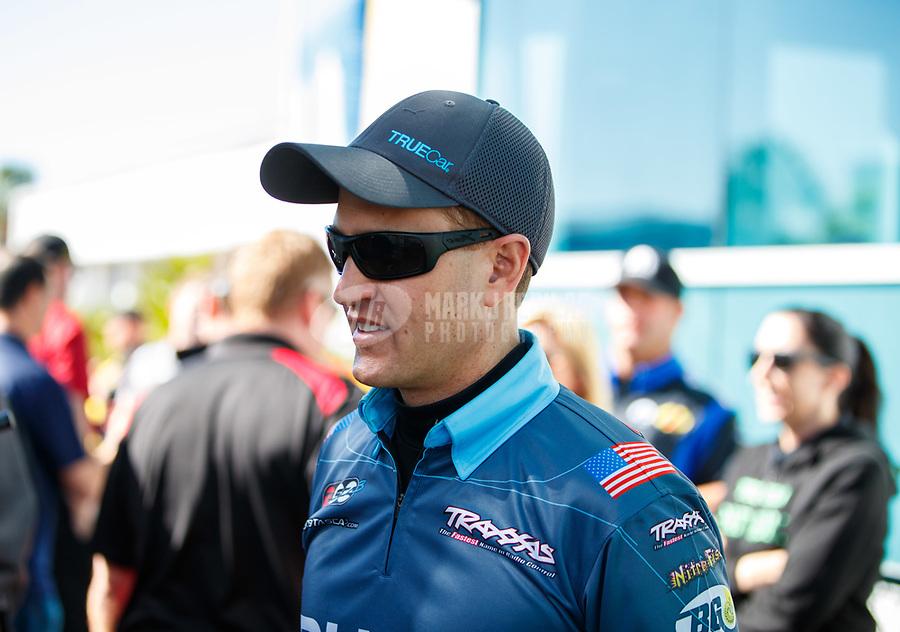 Mar 19, 2017; Gainesville , FL, USA; NHRA funny car driver Bob Tasca III during the Gatornationals at Gainesville Raceway. Mandatory Credit: Mark J. Rebilas-USA TODAY Sports
