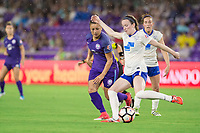 Orlando, FL - Saturday June 03, 2017: Camila, Rose Lavelle during a regular season National Women's Soccer League (NWSL) match between the Orlando Pride and the Boston Breakers at Orlando City Stadium.