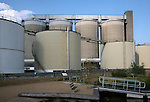 Industrial tanks and structures of the sugar factory at Cantley, Norfolk, England