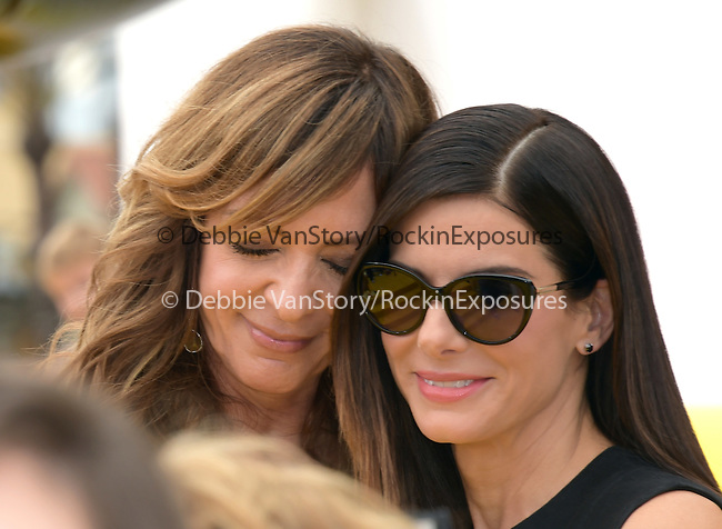 Allison Janney and Sandra Bullock attends Universal Pictures L.A. Premiere of Minions held at The Shrine Auditorium  in Los Angeles, California on June 27,2015                                                                               © 2015 Hollywood Press Agency