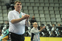 18.01.2013 Barcelona, Spain. IHF men's world championship, prelimanary round. Picture show Zoran Kastratovic   in action during game between Montenegro vs Brazil at Palau St Jordi