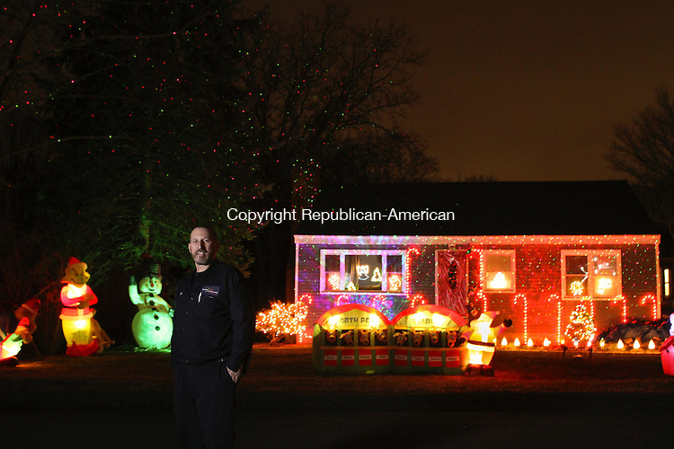 PROSPECT, CT, 18 December, 2015 - 121815LW01 - Don Mangini stands in front of his home at 19 Laura Ave. in Prospect Wednesday.<br />