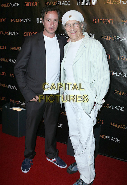 PAULIE SHORE & SAMMIE SHORE.Palms Place Hotel and Spa Grand Opening, Las Vegas, Nevada, USA, .31 May 2008..full length white cap hat Sammy jacket suit .CAP/ADM/MJT.©MJT/Admedia/Capital Pictures