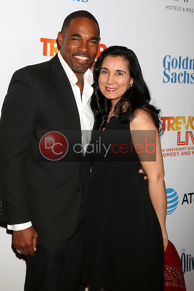 Jason George, Vandana Khanna<br /> at the TrevorLIVE Los Angeles 2016, Beverly Hilton Hotel, Beverly Hills, CA 12-04-16<br /> David Edwards/DailyCeleb.com 818-249-4998