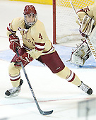 Tommy Cross (BC - 4) - The Boston College Eagles defeated the University of Minnesota Duluth Bulldogs 4-0 to win the NCAA Northeast Regional on Sunday, March 25, 2012, at the DCU Center in Worcester, Massachusetts.