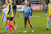 Chicago, IL - Saturday July 30, 2016: Sarah Gorden after a regular season National Women's Soccer League (NWSL) match between the Chicago Red Stars and FC Kansas City at Toyota Park.