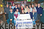 PRESENTATION: Brian Tess captain and member's of the Greyhound Bar Golf Society presenting a cheque to Henry Burrows and Hannah Lynch of the Tralee branch of MS Ireland with monies raised from their Charity Day which was sponsored by Tralee Townhouse at Greyhound bar on Thursday seated l-r: Aidan O'Connor (President GBGS), Henry Burrows (Chairman Tralee Branch MS Ireland), Gavin Burrows, Hannah Lynch (Tralee Branch MS Ireland), Brian Tess (Captain GBGS) and James O'Shea (Tralee Townhouse). Back l-r: Owen O'Sullivan (Secretary GBGS), Timmy Barrett (Vice captain GBGS), Eddie Wall, Bernard Lynch, Richie Barry (Treasurer GBGS), Anne Burrows (Tralee Branch MS Ireland), Larry Noonan, Mary Turner (Tralee Branch MS Ireland), Johnny Conway, Donie Houlihan, Charlie Irwin and Paudie Kelly.