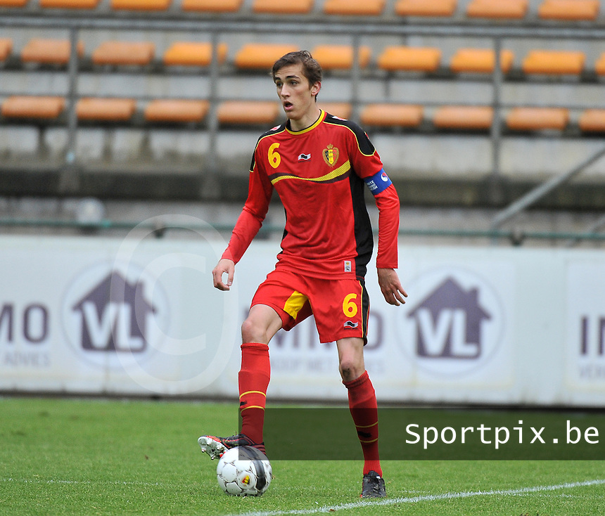 Scotland U19 - Belgium U19 : Julien De Sart.foto DAVID CATRY / Nikonpro.be