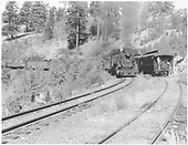 D&amp;RGW San Juan in the hole at Sublette meeting freight train pulled by #484.<br /> D&amp;RGW  Sublette, NM  Taken by Richardson, Robert W. - 9/21/1948