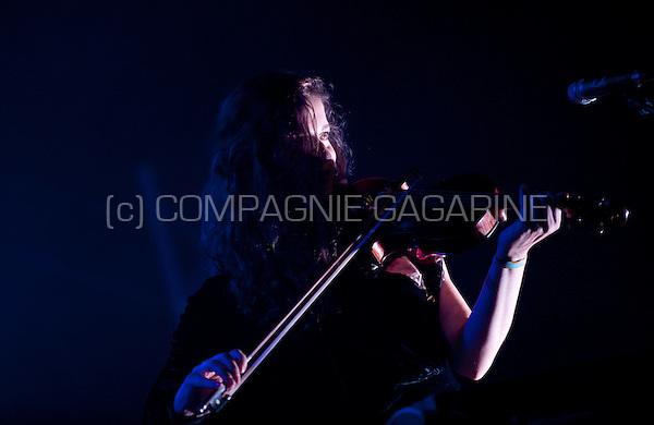 Concert of the Belgian baroque-pop band School Is Cool at the Crammerock festival, in Stekene (Belgium, 06/09/2014)