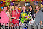 RETIREMENT: Bridget O'Connor, Camp who retired from the KDYS after 21 years celebrating with the member's of Camp Youth Club at Fitzgerald bar, Camp on Saturday l-r: Morah Crean, Martha Farrell (secretary Camp Y.C.), Frances O'Connor, Bridget O'Connor, Mairead Crean and Marcella Finn (tresurer Camp Y.C.).
