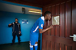 Lowestoft Town 2 Barrow 3, 25/04/2015. Crown Meadow, Conference North. Barrow make the six-hour trip to Suffolk needing a win to secure the title. Curtis<br />