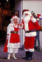 Mr. and Mrs Santa Claus wave hello from the Big Island of Hawaii.