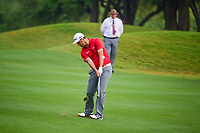 Jon Rahm (ESP) hits his approach shot on 1 during round 6 of the World Golf Championships, Dell Technologies Match Play, Austin Country Club, Austin, Texas, USA. 3/26/2017.<br /> Picture: Golffile | Ken Murray<br /> <br /> <br /> All photo usage must carry mandatory copyright credit (&copy; Golffile | Ken Murray)