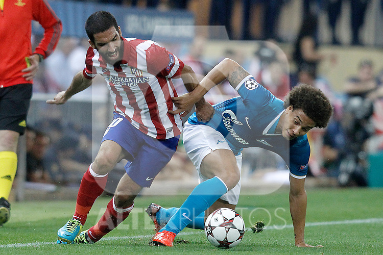 Atletico de Madrid's Arda Turan (l) and Football Club Zenit's Axel Witsel during Champions League 2013/2014 match.September 18,2013. (ALTERPHOTOS/Acero)