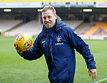 07.04.2019 Motherwell v Rangers: Scott Arfield with the match ball after his hat-trick