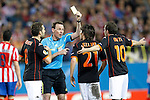MADRID (08/04/2010).- Europe League quarter finals match. Atletico de Madrid vs Valencia. Mata yellow card...Photo: Cebolla-Cid-Fuentes/ ALFAQUI