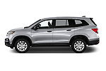 Car driver side profile view of a 2020 Honda Pilot LX 5 Door SUV