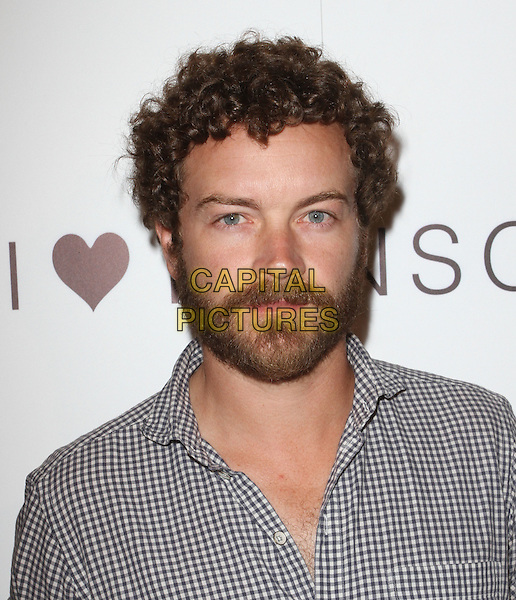 "Danny Masterson. I ""Heart"" Ronson And jcpenney Celebrate The I ""Heart"" Ronson Collection  Held At The Hollywood Roosevelt Hotel, Hollywood, California, USA, 21st June 2011..portrait headshot  beard facial hair  checked gingham shirt .CAP/ADM/KB.©Kevan Brooks/AdMedia/Capital Pictures."