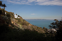 Villa on cliffside overlooking Gulf of Tunis, Said Bou Said, Tunisia