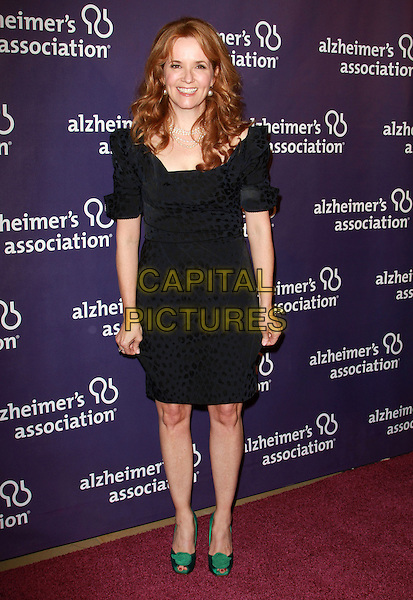 """LEA THOMPSON .19th Annual """"A Night at Sardi's"""" Benefiting the Alzheimer's Association held at the Beverly Hilton Hotel, Beverly Hills, California, USA, 16th March 2011..full length  dress green peep toe shoes  black pearl necklace pearls .CAP/ADM/KB.©Kevan Brooks/AdMedia/Capital Pictures."""