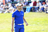 Haydn Porteous (RSA) on the 18th green during Sunday's Final Round 4 of the 2018 Omega European Masters, held at the Golf Club Crans-Sur-Sierre, Crans Montana, Switzerland. 9th September 2018.<br /> Picture: Eoin Clarke | Golffile<br /> <br /> <br /> All photos usage must carry mandatory copyright credit (© Golffile | Eoin Clarke)