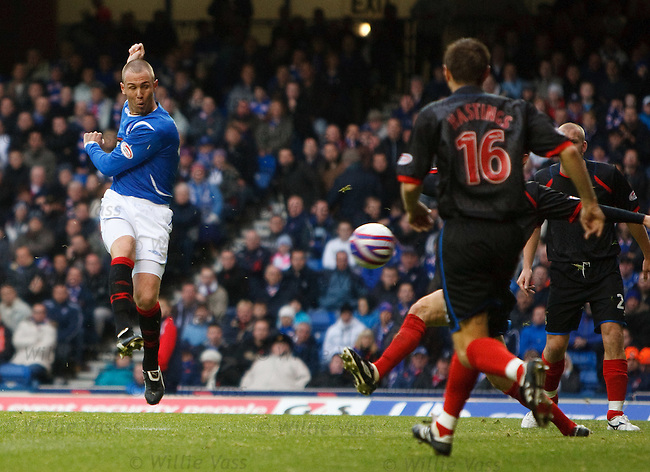 Kenny Miller scores goal no 5 for Rangers just before half time