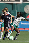 18 July 2009: Saint Louis' Eniola Aluka (ENG) (right) and Washington's Sonia Bompastor (FRA) (8). The Washington Freedom defeated Saint Louis Athletica 1-0 at the RFK Stadium in Washington, DC in a regular season Women's Professional Soccer game.