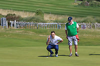 Fergal O'Sullivan (Tralee) on the 6th green during the Munster Final of the AIG Barton Shield at Tralee Golf Club, Tralee, Co Kerry. 12/08/2017<br /> Picture: Golffile | Thos Caffrey<br /> <br /> <br /> All photo usage must carry mandatory copyright credit     (&copy; Golffile | Thos Caffrey)