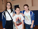 Caoimhe Clinton, Jack Connor and Sally Farrell pictured at the coffee morning fundraiser in Yellowbatter Boys Club to send B-Town dance group to the All-Ireland Hip-Hop championships. Photo:Colin Bell/pressphotos.ie