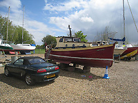 BNPS.co.uk (01202 558833)<br /> Pic: MattCain/BNPS<br /> <br /> Lady of Mann lifeboat number 8 was discovered for sale in a boatyard in Maldon, Essex, in 2009. <br /> <br /> A lifeboat which was present at Dunkirk is set to sail there on the 80th anniversary of the mass evacuation after being painstakingly restored.<br /> <br /> The Lady of Mann was lifeboat number eight on board the passenger ship RMS Lady of Mann, which brought 4,262 men back to England in May 1940.<br /> <br /> It was also on the Isle of Man Steam Packet Company vessel when it carried six landing craft, 55 officers and 435 troops to Juno Beach on D-Day in June 1944.<br /> <br /> After the ship was broken up in 1971, the 27ft lifeboat was sold off and converted into a fishing boat which operated out of Maldon, Essex. It had been languishing in a rotting, dilapidated state in an Essex boatyard when IT manager Matt Cain paid £3,000 for it in 2009 after spotting it for sale online.<br /> <br /> The boat sank at its mooring in Windsor, Berks, during the floods of February 2014. Since then, Mr Cain, whose grandfather was evacuated at Dunkirk, has spent over £30,000 returning it to its former glory.