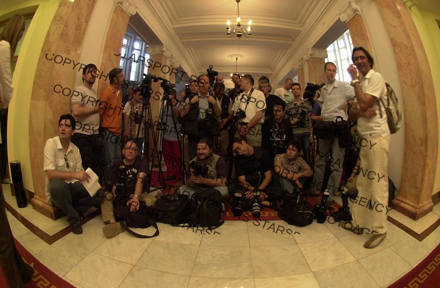 VLADA SRBIJE FOTOREPORTERI MARADONA KOSTUNICA 14.6.2005. foto: Pedja Milosavljevic<br />