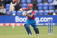 Najbullah Zadran (Afghanistan) drives into the off side during Afghanistan vs Sri Lanka, ICC World Cup Cricket at Sophia Gardens Cardiff on 4th June 2019