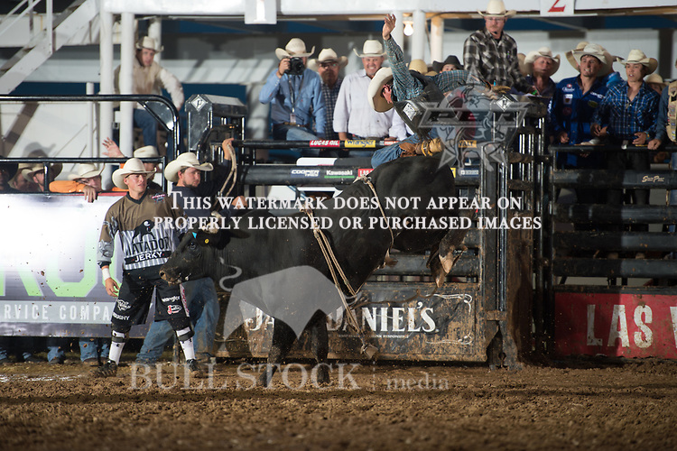 Johnny Fuerst attempts Show Me Homie of JK Elite/ Young Bird/ Cord McCoy/ K-C during the JW Hart Challenge event in Decatur, TX - 6.3.2016. Photo by Christopher Thompson