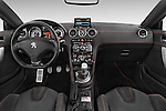 Stock photo of straight dashboard view of a 2014 Peugeot RCZ R 2 Door Coupe 2WD Dashboard