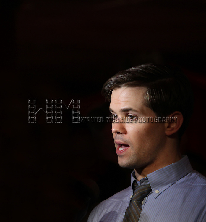 Andrew Rannells.attending the 56th Annual Drama Desk Award Nominees Reception at Bombay Palace in New York City.