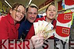 John Dillon, trading manager Tesco, Killarney Park, which sold a EUR100, 000 National Lottery ticket before Christmas, pictured with Joan McGorrian and Rosanna Shine.