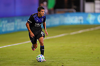 10th July 2020, Orlando, Florida, USA;  San Jose Earthquakes midfielder Shea Salinas (6) looks to pass the ball during the soccer match between the Seattle Sounders and the San Jose Earthquakes on July 10, 2020, at ESPN Wide World of Sports Complex in Orlando, FL.