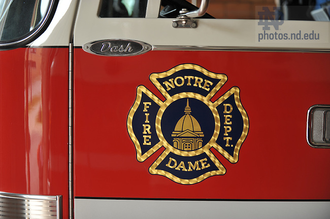 ND Fire Department firetruck..Photo by Matt Cashore/University of Notre Dame