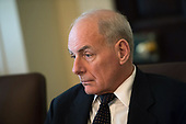 White House Chief of Staff John Kelly attends a cabinet meeting with President Donald Trump, at the White House on November 20, 2017 in Washington, D.C. President Trump officially designated North Korea as a state sponsor of terrorism. Photo by Kevin Dietsch/UPI<br /> Credit: Kevin Dietsch / Pool via CNP