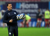 Racing 92 Head coach Laurent Labit during the pre match warm up<br /> <br /> Photographer Ian Cook/CameraSport<br /> <br /> European Rugby Champions Cup - Scarlets v Racing 92 - Saturday 13th October 2018 - Parc y Scarlets - Llanelli<br /> <br /> World Copyright © 2018 CameraSport. All rights reserved. 43 Linden Ave. Countesthorpe. Leicester. England. LE8 5PG - Tel: +44 (0) 116 277 4147 - admin@camerasport.com - www.camerasport.com