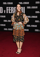 "HOLLYWOOD, CA - NOVEMBER 04: Carla Baratta attends the Premiere of FOX's ""Ford V Ferrari"" at TCL Chinese Theatre on November 04, 2019 in Hollywood, California.<br /> CAP/ROT/TM<br /> ©TM/ROT/Capital Pictures"