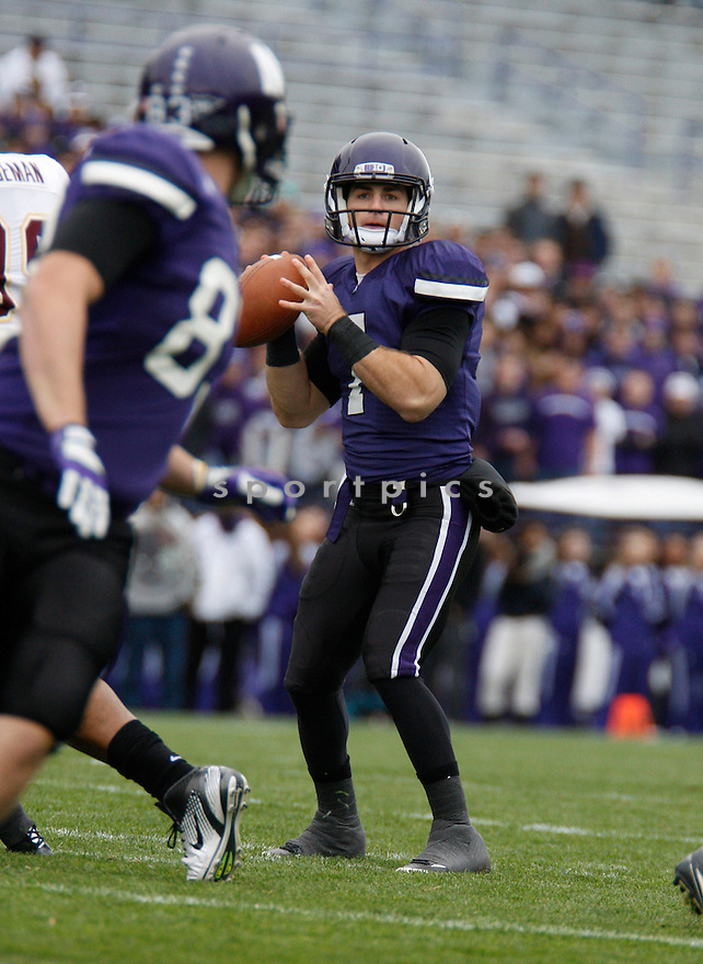 DAN PERSA, of the Northwestern Wildcats, in action during Northwestern's  game against the Minnesota Golden Gophers on November 19, 2011 at Ryan Field in Evanston, IL. Northwestern beat Minnesota 28-13.