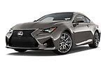 Stock pictures of low aggressive front three quarter view of a 2018 Lexus RC F 3 Door Coupe